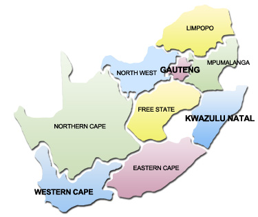 Map Of South African Provinces